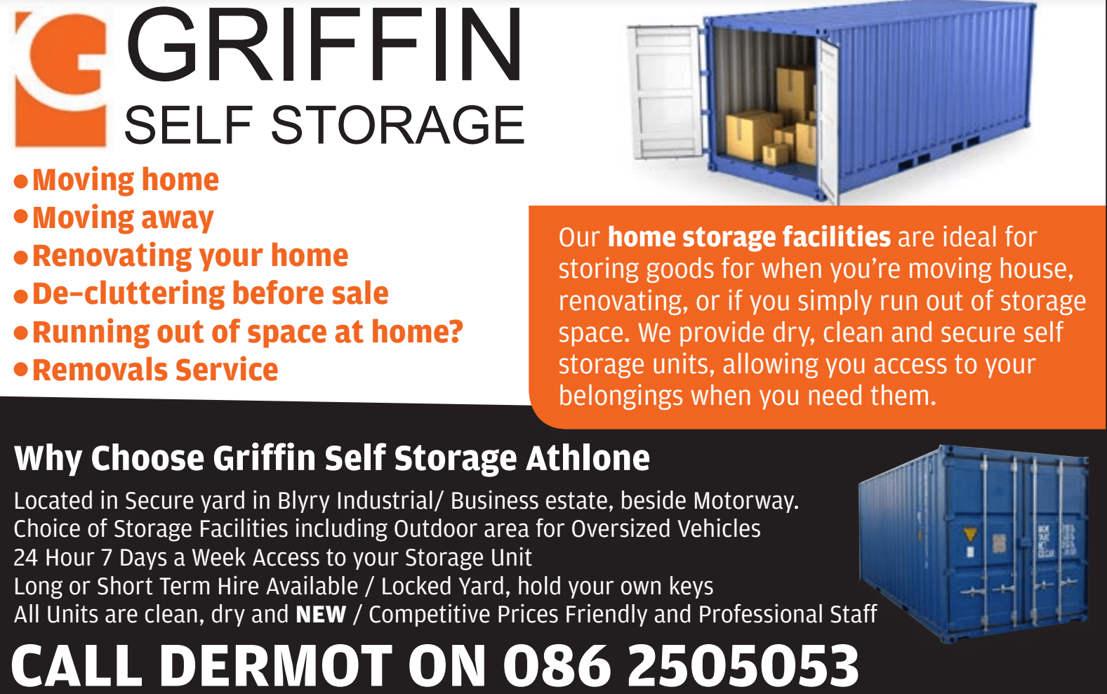 Blue Box Self Storage Athlone