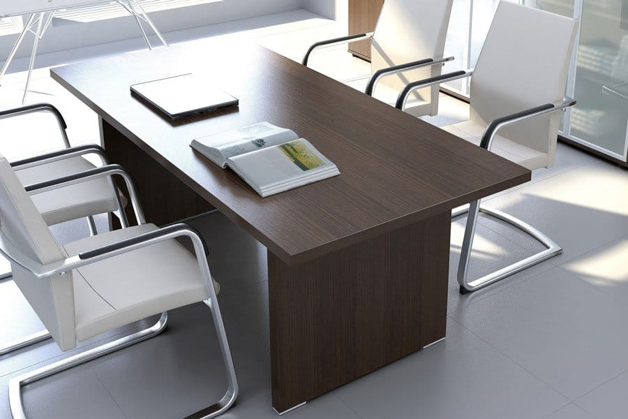 Fermo Range Executive Desk Walnut Finish Meeting Griffin Office